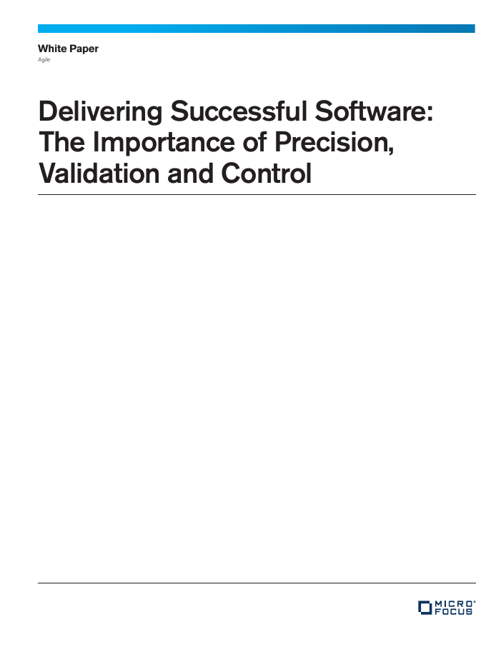 [White Paper] Delivering Successful Software: The Importance of Precision, Validation and Control