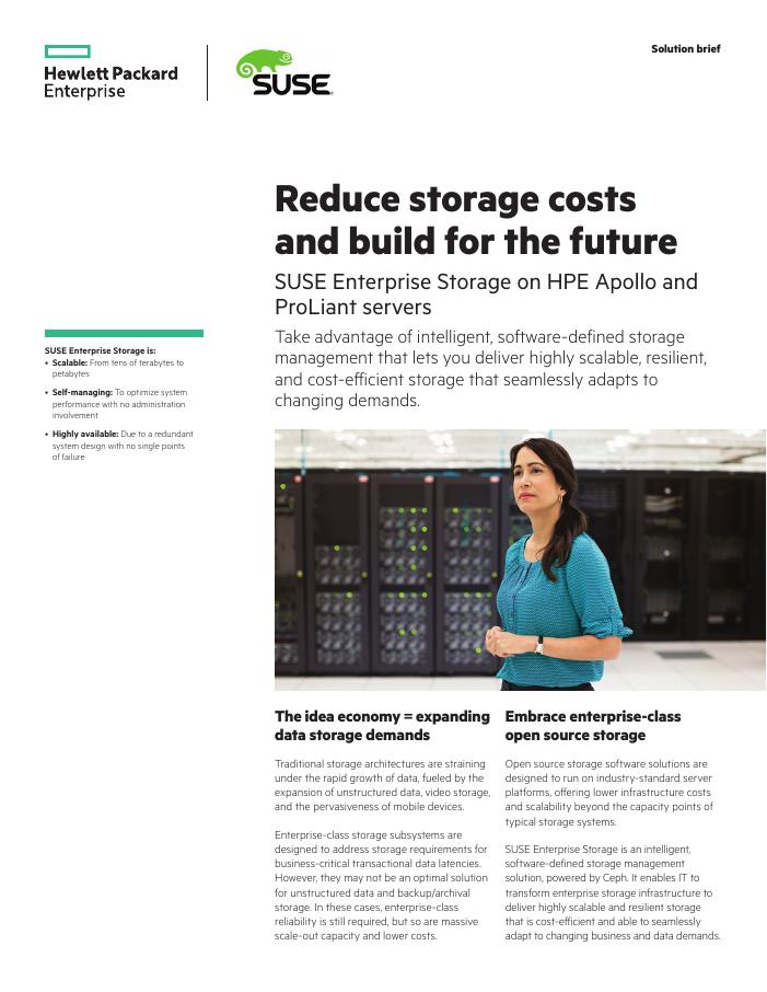 Solution Brief: SUSE Enterprise Storage on HPE Apollo and Proliant servers