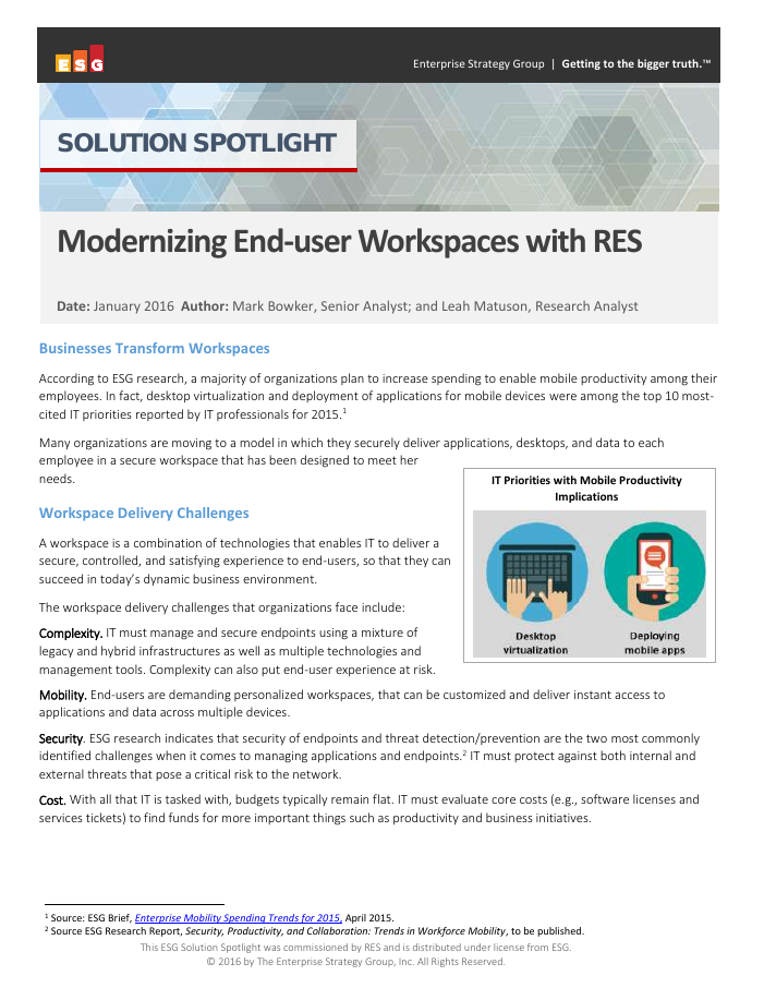 [Research Report] Modernizing End-user Workspaces