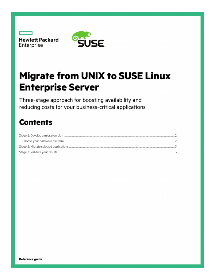 Guide: Migrate from UNIX to SUSE Linux Enterprise Server
