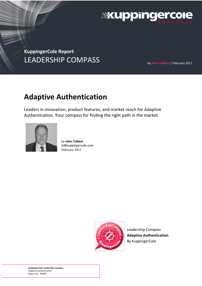 KuppingerCole Report: Adaptive Authentication