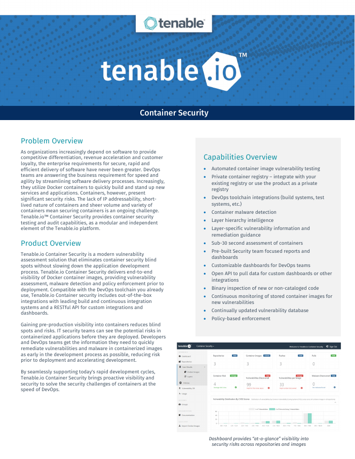 [Data Sheet] Tenable.io Container Security