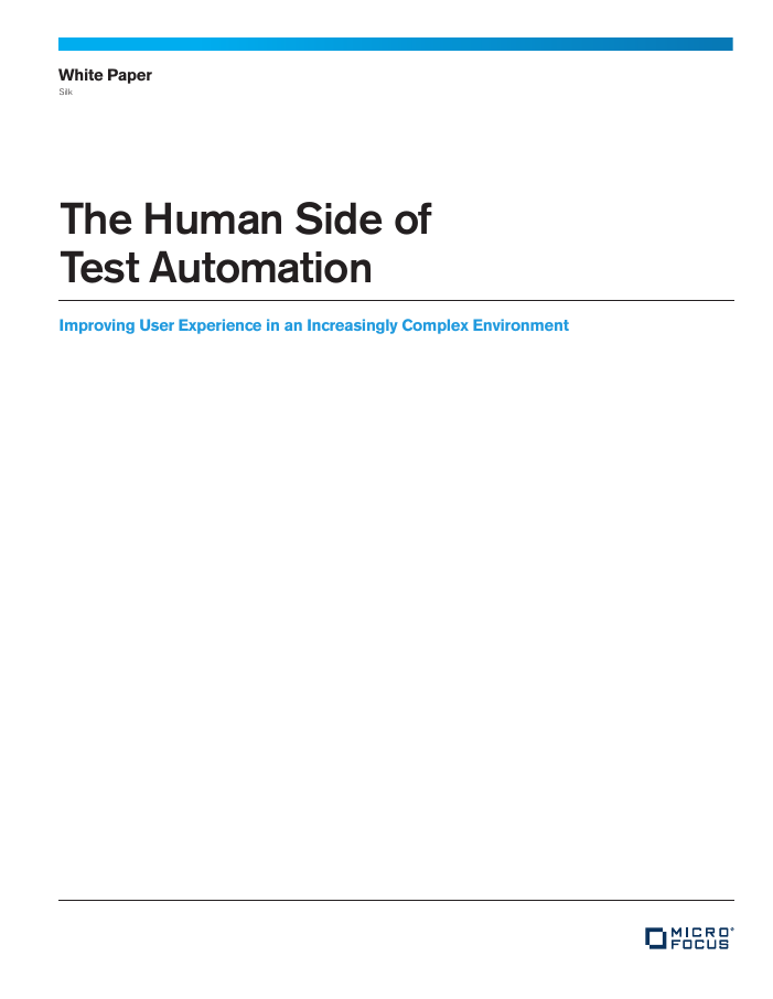 [White Paper] The Human Side of Test Automation