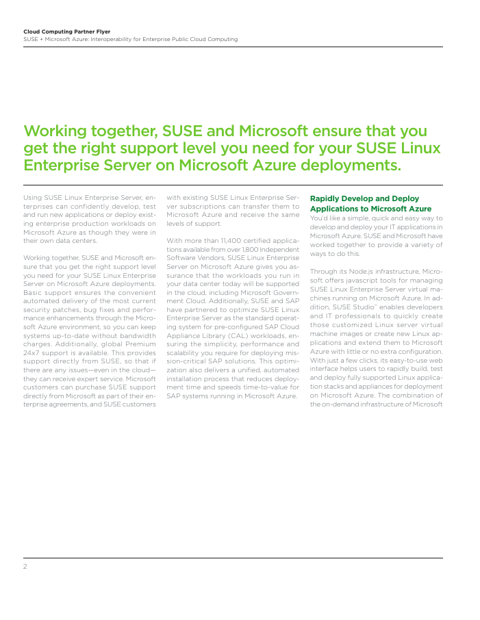 SUSE Linux on Microsoft Azure