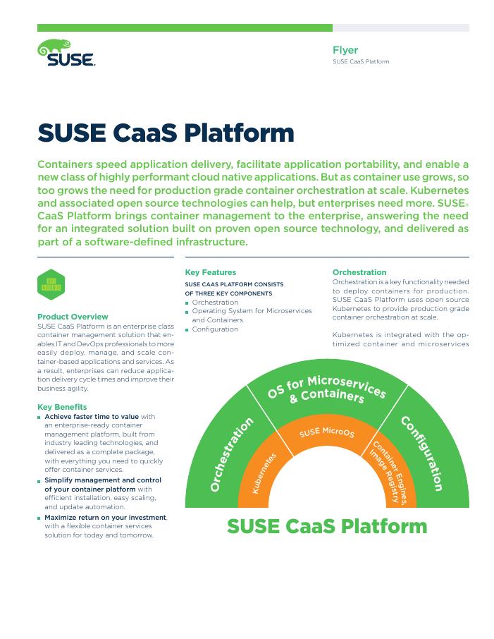 SUSE CaaS Platform Data Sheet
