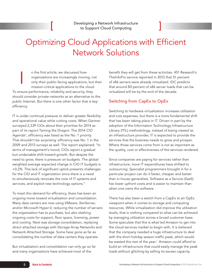 Chapter 3: Developing a Network Infrastructure to Support Cloud Computing
