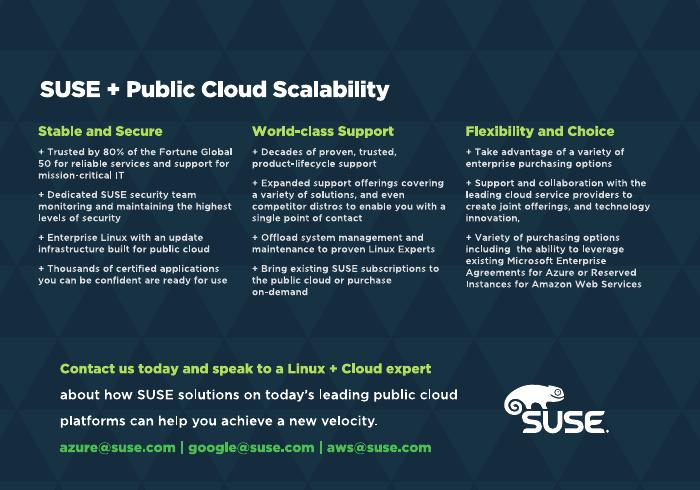 SUSE: Enterprise Open Source Solutions for Public Cloud
