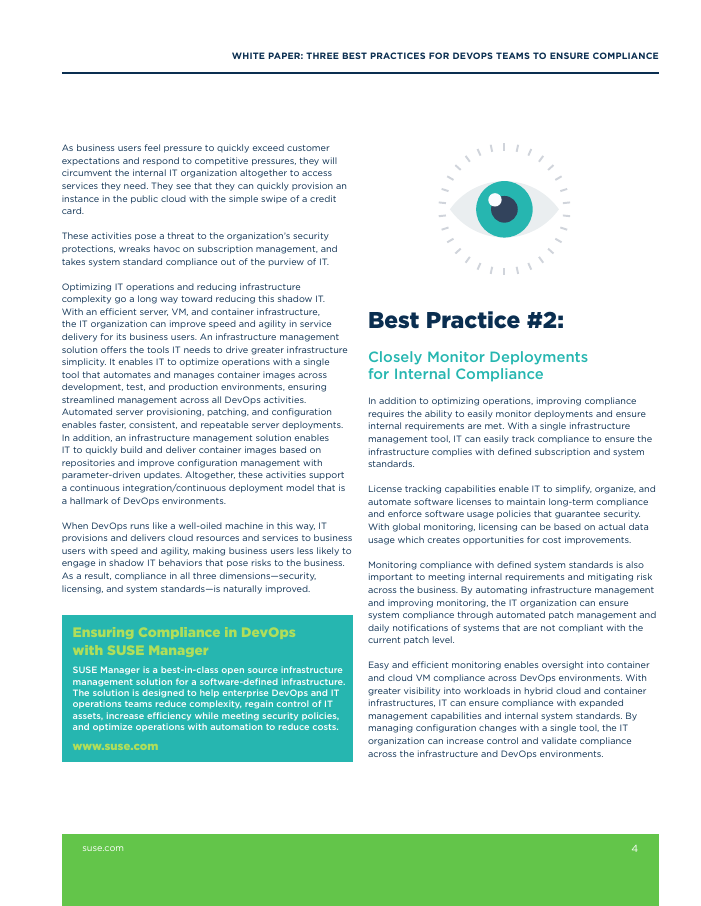 White paper: Three Key Best Practices for DevOps Teams to Ensure Compliance