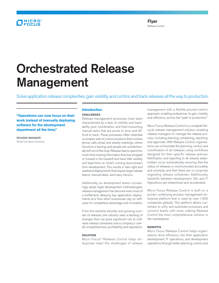 Orchestrated Release Management