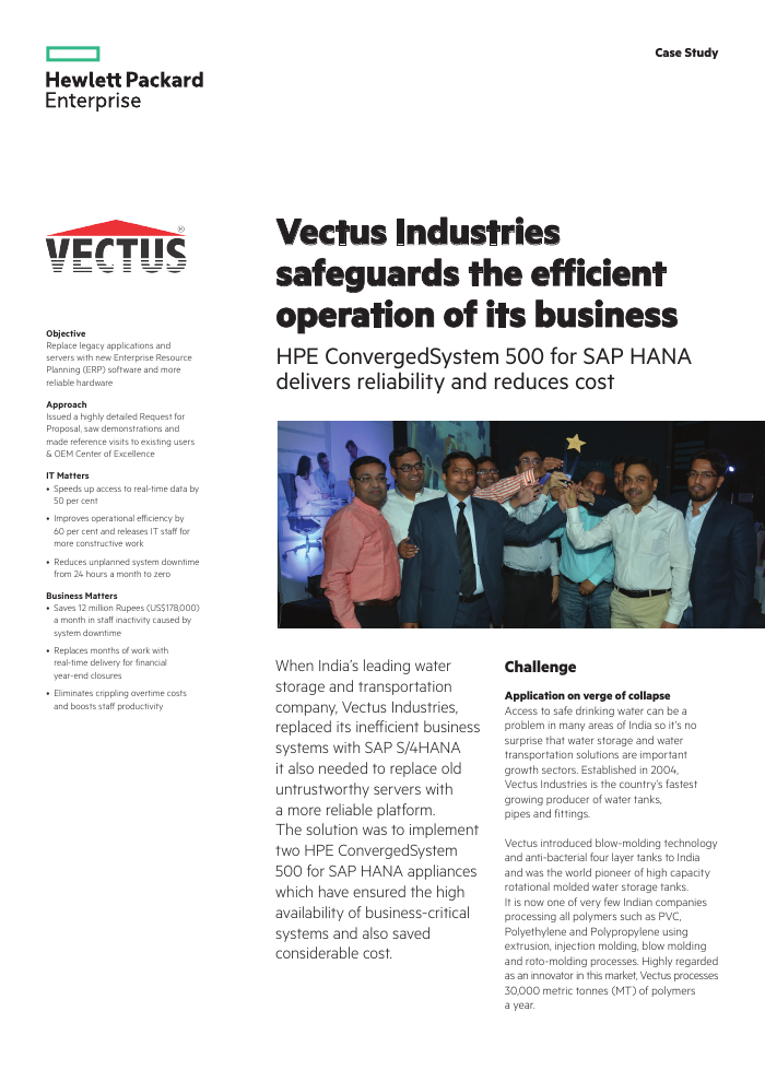 Success Story: Vectus Industries