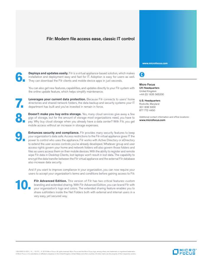 Top 10 Reasons Filr Offers True Enterprise  File Sharing and Access