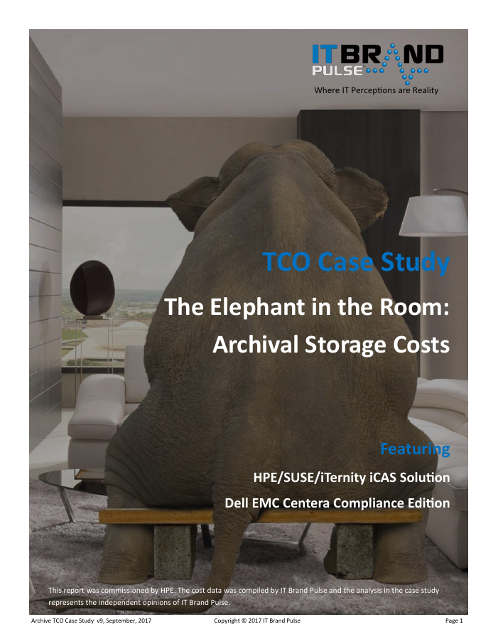 TCO Case Study Compliance Archiving