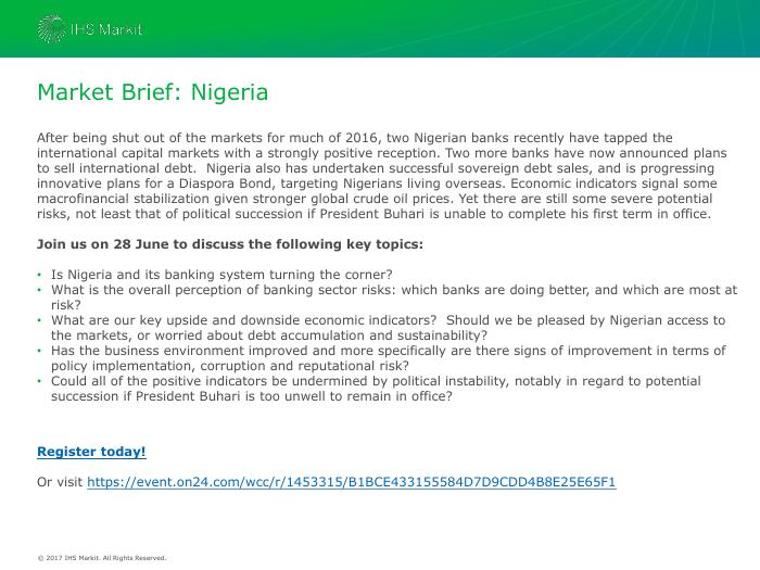 Market Brief: Nigeria