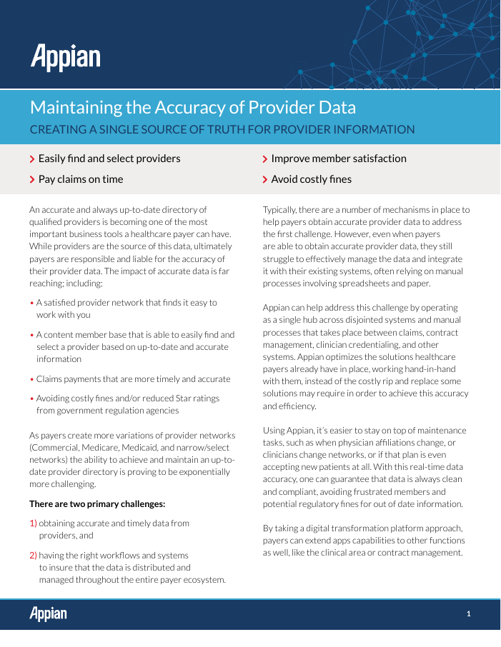 [Industry Brief] Maintaining the Accuracy of Provider Data