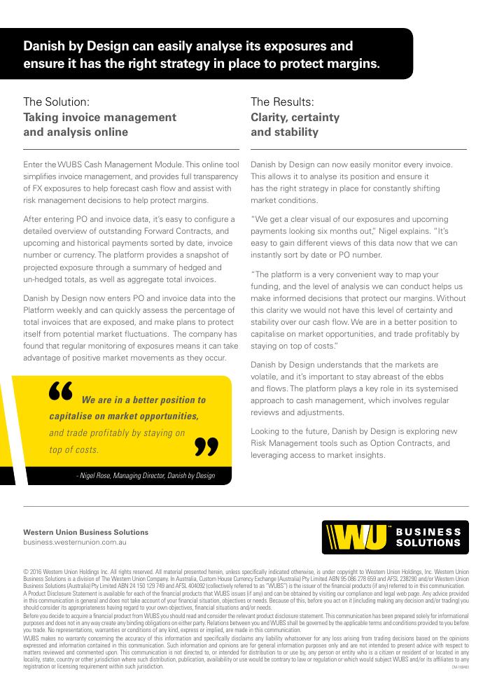 Case Study: Cash Management