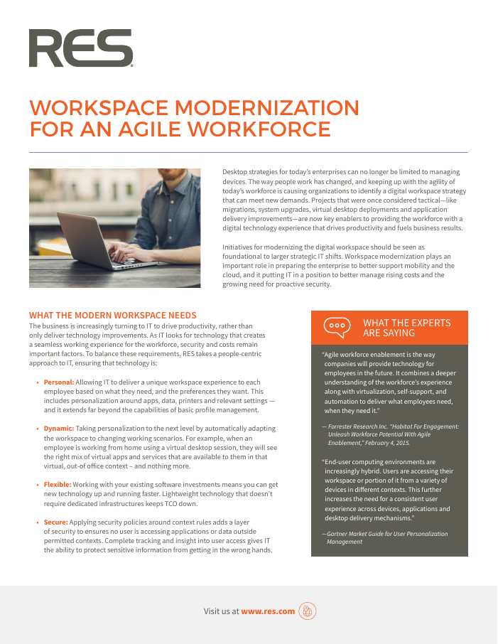 [Brochure] Workspace Modernization for an Agile Workforce