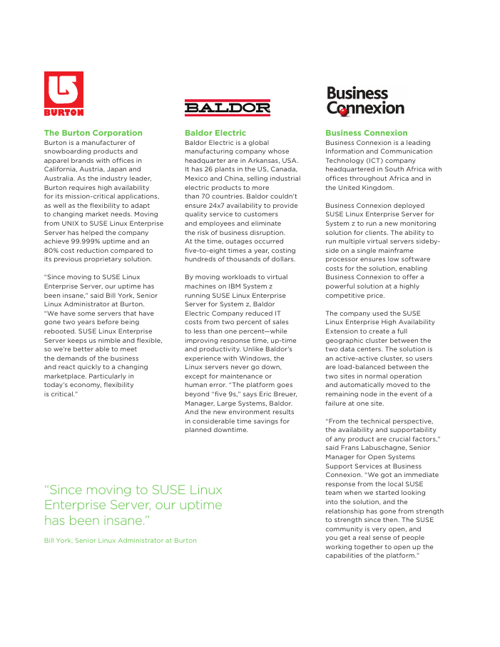 Six Companies Who Reduced Downtime with a SUSE Solution