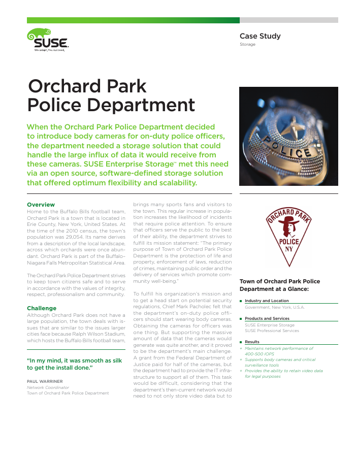 Success Story: Orchard Park Police Department