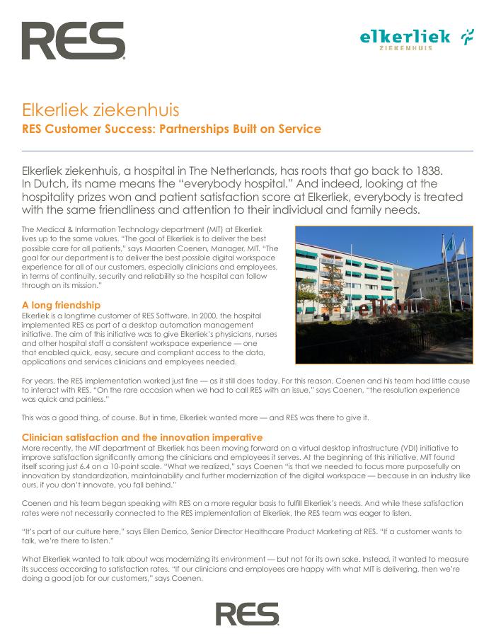 Elkerliek Ziekenhuis: Partnerships Built on Service