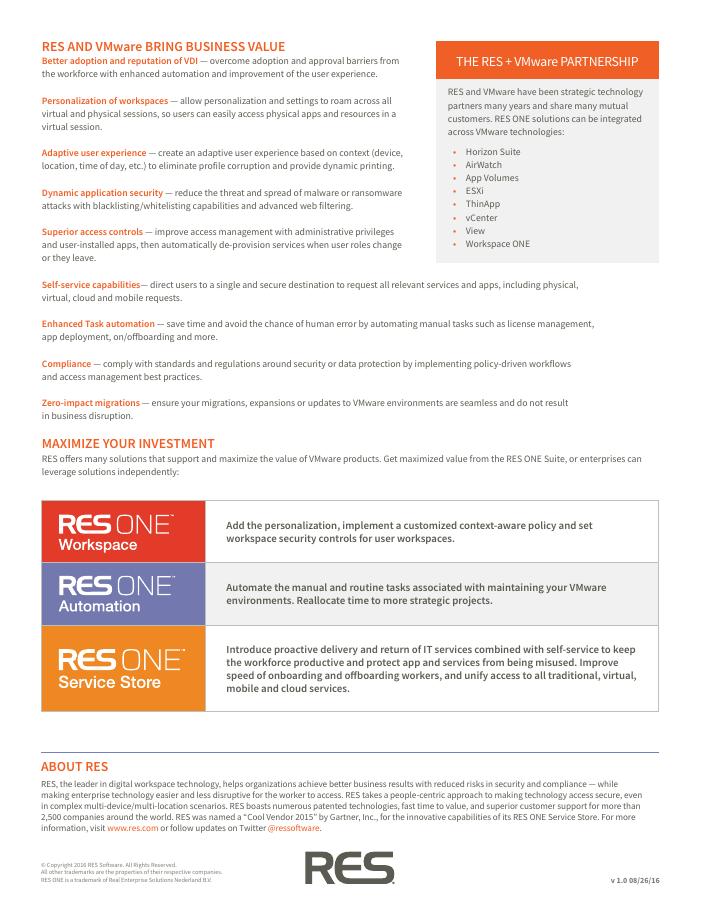 RES + VMware
