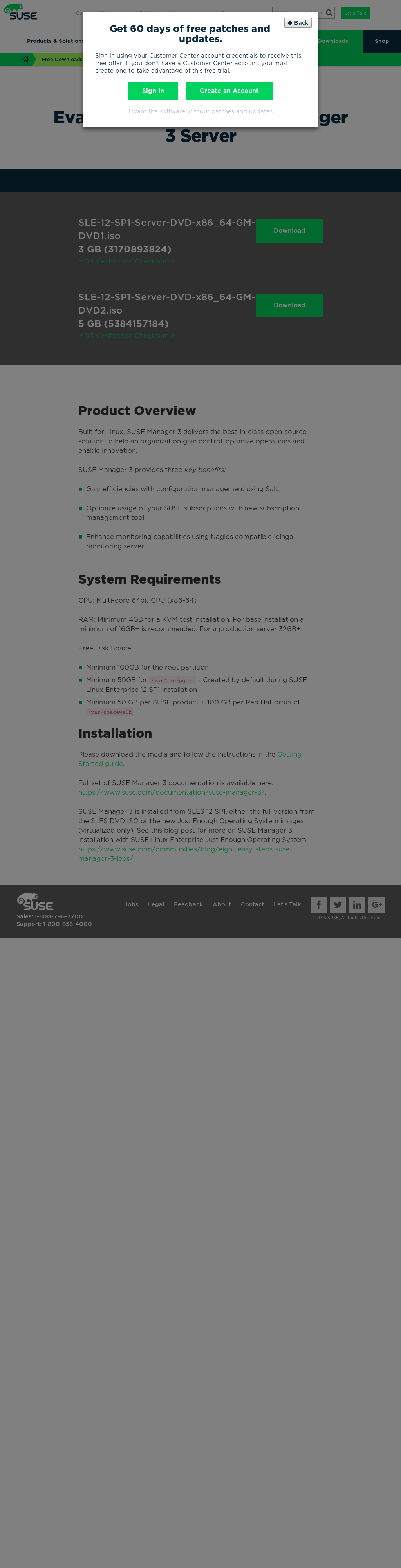 SUSE Manager 3 Eval