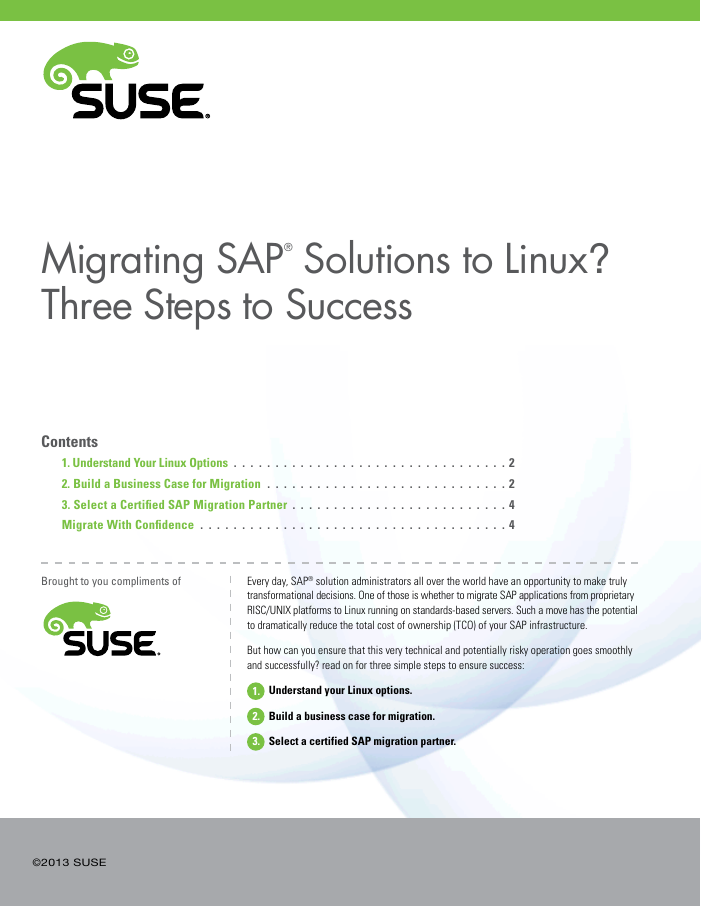 Migrating SAP Solutions to Linux? 3 Steps to Success