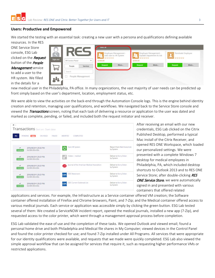 RES ONE and Citrix: Better Together for Users and IT