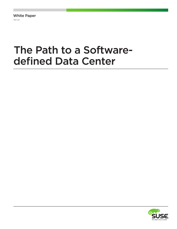 The Path to a Software-defined Data Center