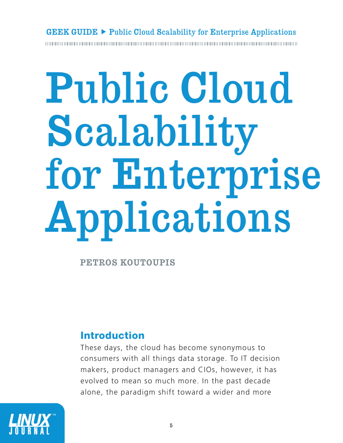 Linux Journal Geek Guide: Public Cloud Scalability for Enterprise Applications