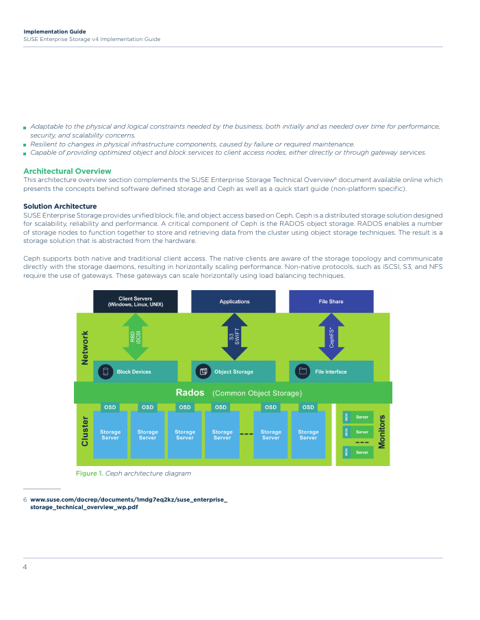 SUSE Enterprise Storage on HPE Apollo Systems Implementation Guide