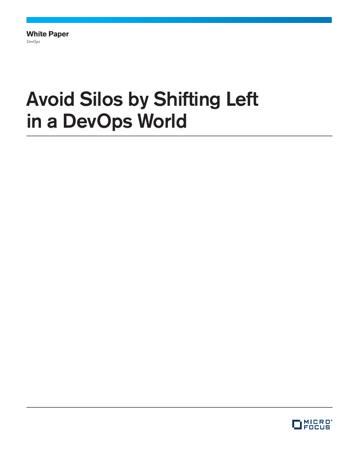 Avoid Silos by Shifting Left in a DevOps World