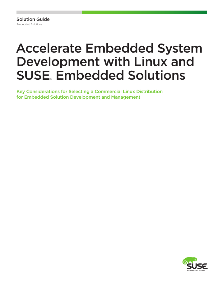 Solution Brief: Accelerate Embedded Development