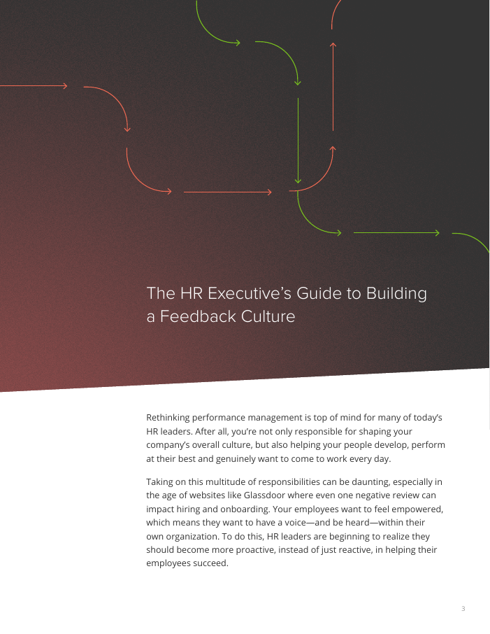 The HR Executive's Guide to Building a Feedback Culture