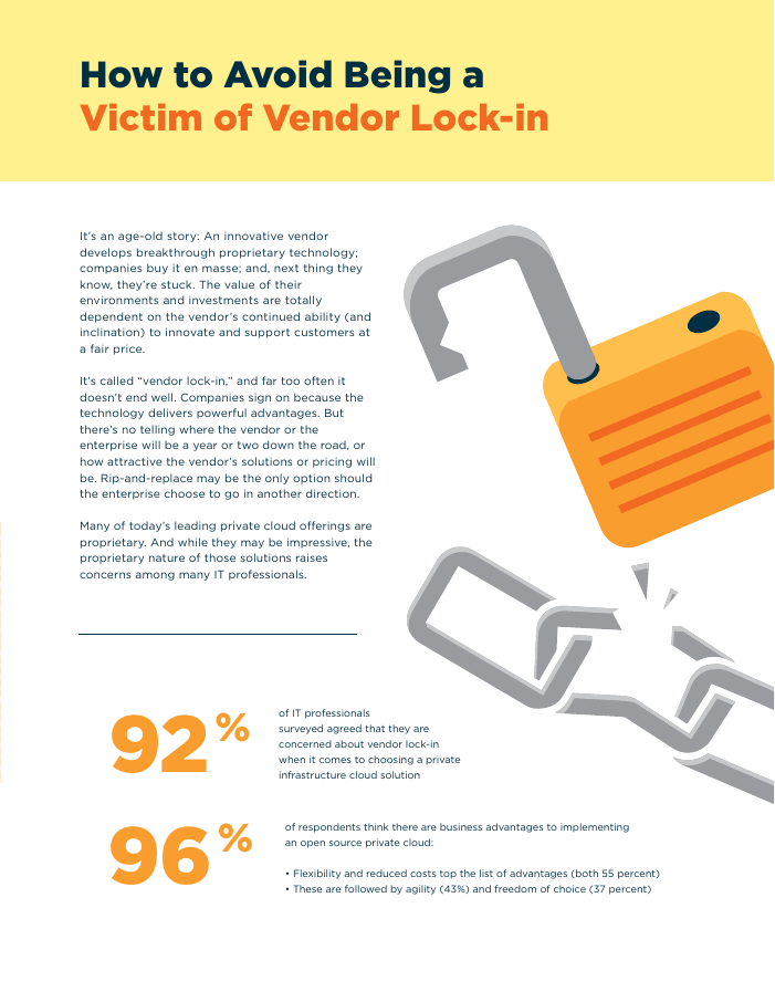 Move Up to an OpenStack Private Cloud and Lose the Vendor Lock-in