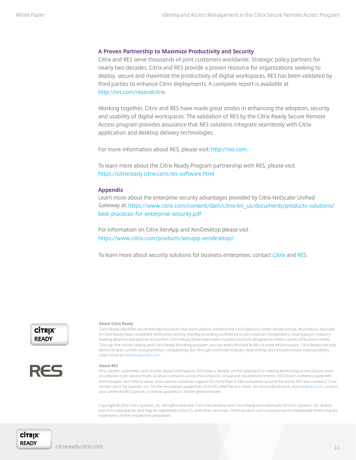 Identity and Access Management in the Citrix Secure Remote Access Program