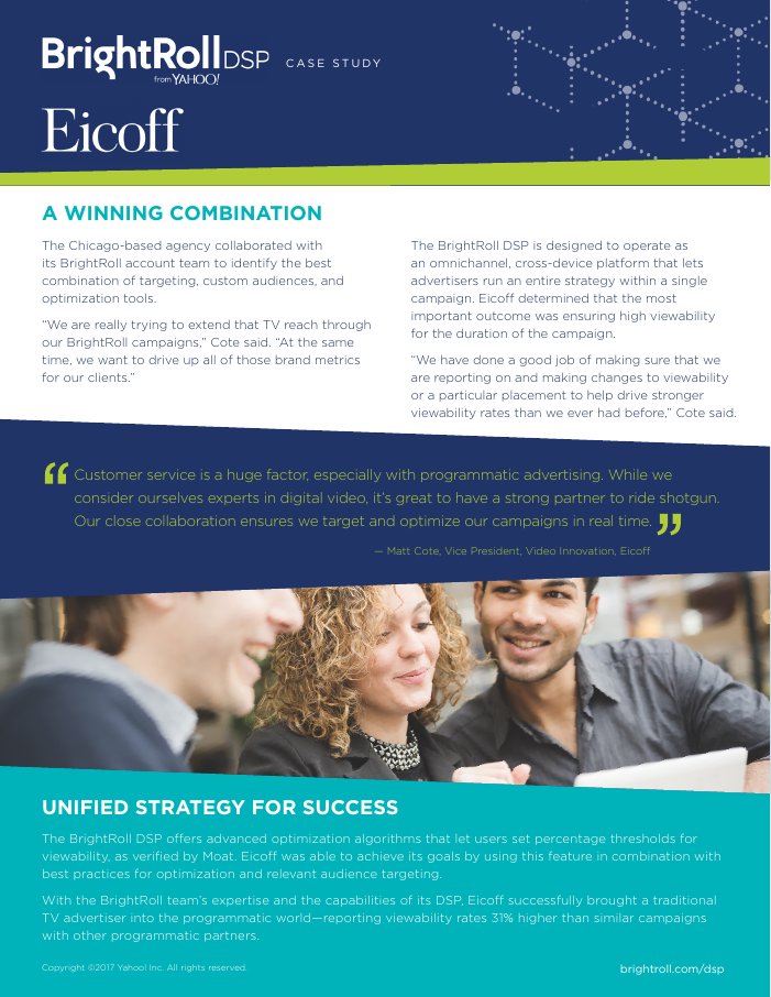 Eicoff Guides TV Advertisers Into The Digital Era With The BrightRoll DSP