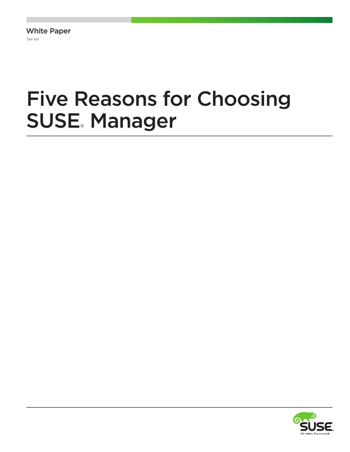 5 Reasons for Choosing SUSE Manager