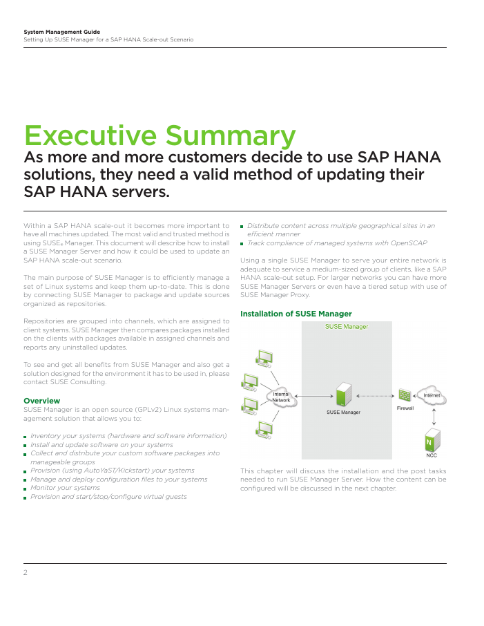Setup Guide: SAP HANA Scale-out with SUSE Manager