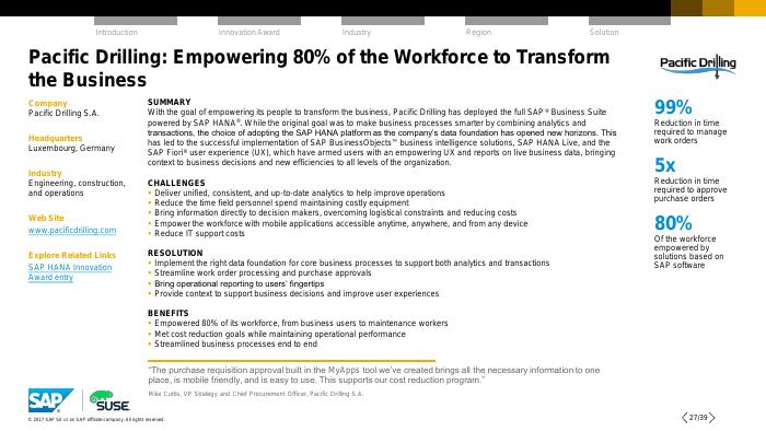 Success Stories: SAP HANA Innovation Award Winners Run on SUSE Linux Enterprise