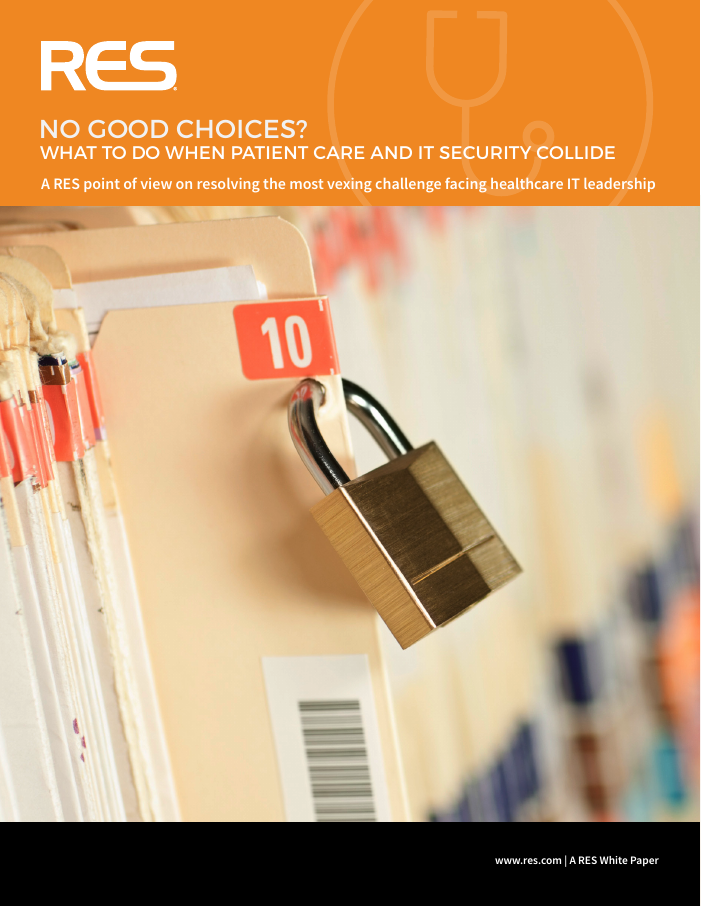 [White Paper] What To Do When Patient Care and IT Security Collide
