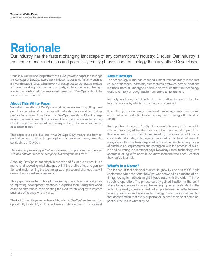 [White Paper] Real World DevOps for Mainframe Enterprises