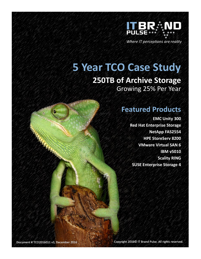 5 Year TCO Case Study