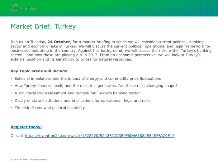 Market Brief: Turkey