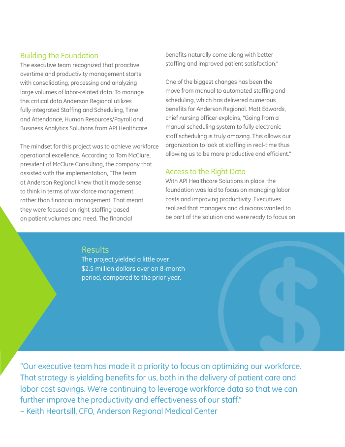 How Anderson Regional Saved $2.5M in Labor Costs