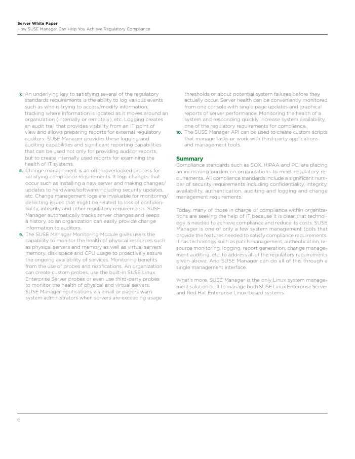 Achieve Compliance with SUSE Manager