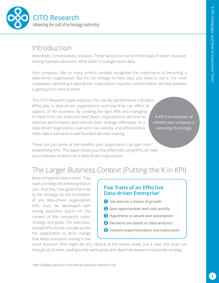 White Paper: CITO - 3 KPI Challenges and How to Overcome Them