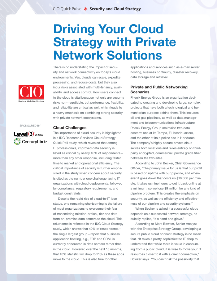 Driving Your Cloud Strategy with Private Network Solutions
