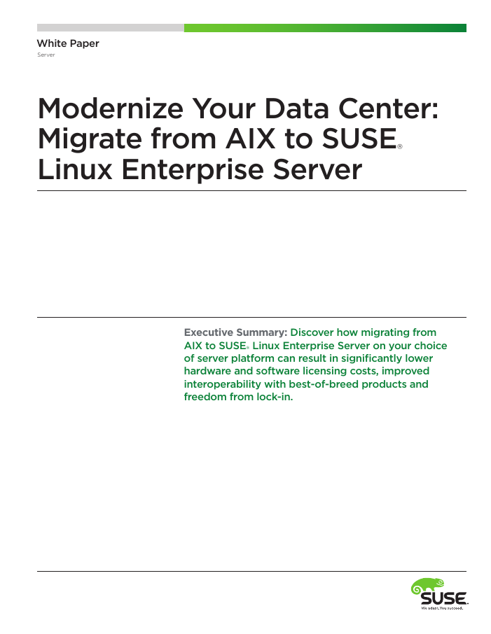 Modernize Your Data Center: Migrate from AIX