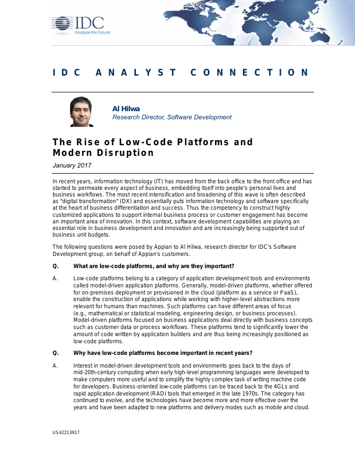 [Analyst Report] The Rise of Low-Code Platforms and Modern Disruption