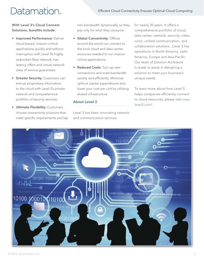Efficient Cloud Connectivity Ensures Optimal Cloud Computing
